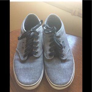 Vans canvas classic grey skate shoes